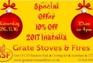 Open Day 26th November – Mince Pies, Mulled Wine & 10% Off 2017 Stove Installations